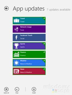 Updates for pre-installed Windows 8/RT apps are available in Store – Details