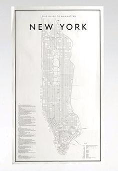 New York kort fra Artilleriet http://www.artilleriet.se/shop/details/#2013-guide-to-manhattan