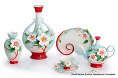 FZ02884 Franz Porcelain Everlasting Love Camellia Large Vase New for 2012 | eBay