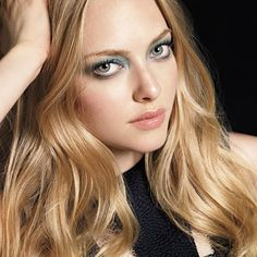 """""""This eye makes me feel like a mermaid,"""" says #AmandaSeyfried, who modeled a fresh teal take on the classic smoky eye. """"The colors are very glamorous."""" http://www.instyle.com/instyle/package/general/photos/0,,20345782_20294982_20651991,00.html"""
