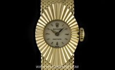 http://www.watchcentre.com/product/rolex-18k-yellow-gold-silver-dial-rare-chameleon-precision%C2%A0ladies-9667/10505  #rolex #chameleon #precision #luxurywatches #watchcentre #london