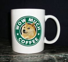 Wow Much Doge Coffee Mug by KirkwoodBowls on Etsy