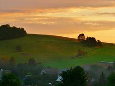 Sunset near Hukvaldy