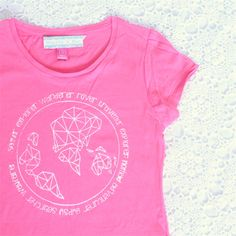 Girls Around The World Screen Print Tee - Size 8