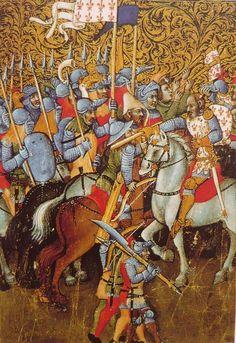 Italy 1373 Medieval Paintings, Renaissance Paintings, Medieval Armor, Medieval Fantasy, Medieval Crossbow, Medieval Manuscript, Illuminated Manuscript, Book Of Hours, Dark Ages