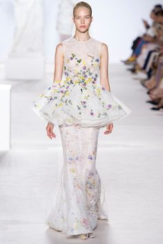 14. Giambattista Valli's Couture 2013;modern day minaret tunic; similar because it is wide circle holding up a skirt