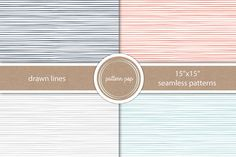 Seamless Hand Drawn Lines Pattern by pattern pop on Creative Market