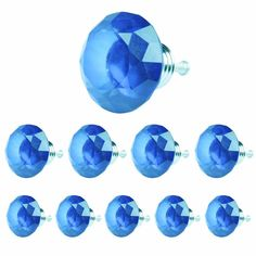 16.10$  Buy now - http://alidg0.shopchina.info/go.php?t=32620896108 - 2017 10 Pcs Hot Selling Ocean Blue 40MM Diamond Shape Crystal Glass Drawer Cabinet Pull Handle Knob Blue High Quality SJ-1010  #magazineonline