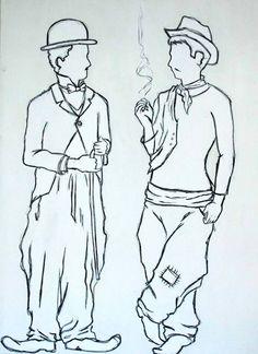 #illustration #charliechaplin #cantinflas