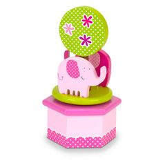 Pink Elephants Music Box