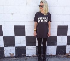 WHERE IS MY MIND by the Pixies IS MY JAMMM I NEED THIS SHIRT