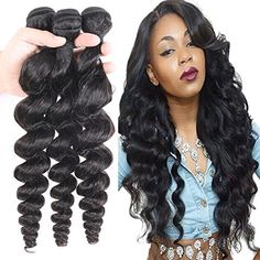 "Derun Hair 100% Real Brazilian Loose Wave Human Hair Extention Length 32"" Inch 100g/pcs Virgin Hair Weave Natural Color Derun Hair http://www.amazon.com/dp/B01AFNMHO8/ref=cm_sw_r_pi_dp_hCbTwb07SAE6A"