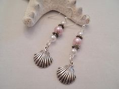 Seashell Earrings Scallop Shell Earrings Beach Earrings