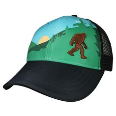 Our Sasquatch Trucker Hat is a great piece of headwear, and you'll love wearing it on your runs through the woods. Check out all of our cool trucker hats!