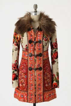 Anthropologie Karelia Coat media gallery on Coolspotters. See photos, videos, and links of Anthropologie Karelia Coat. Folk Fashion, Ethnic Fashion, Womens Fashion, Fringe Fashion, Fashion Coat, Couture Fashion, Costume Russe, Mode Russe, Mode Mantel