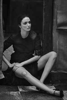 Mariacarla Boscono by Peter Lindbergh for Vogue Italia March 2016