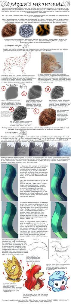 Painting and Stylizing Fur Tutorial by DragginCat.deviantart.com on @deviantART