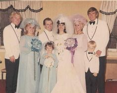 1970's wedding party love the colors