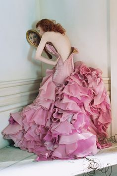 tim walker for vogue and, oh my, that dress!
