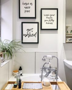 DIY Home Decor reference 3361525480 - Good looking styling tactic and examples to come up with a wonderfully elegant space. For added note-worthy diy home decor boho ideas press the image to study the website example now. Bathroom Prints, Bathroom Wall Decor, Small Bathroom, Room Decor, Bathroom Ideas, Bathroom Signs, Bathroom Artwork, Bathroom Beadboard, Restroom Ideas