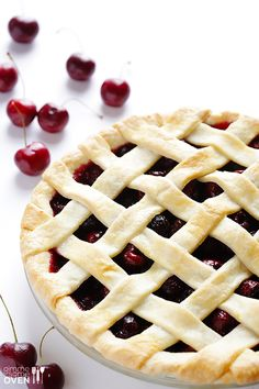 Oh My! Sweet Cherry Pie Recipe at gimmesomeoven.com @Ali Velez Velez Velez Ebright (Gimme Some Oven)