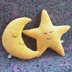 Lua e estrela em plush Chuchu Rosa vitrine.elo7.com.br/chuchurosa