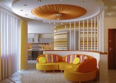 46 Dazzling & Catchy Ceiling Design Ideas 2015 - We always care about designing and decorating different rooms at our homes through changing different pieces of furniture, curtains, wall paint, rugs ... -   ~♥~ ...SEE More :└▶ └▶ http://www.pouted.com/35-dazzling-catchy-ceiling-design-ideas-2015/
