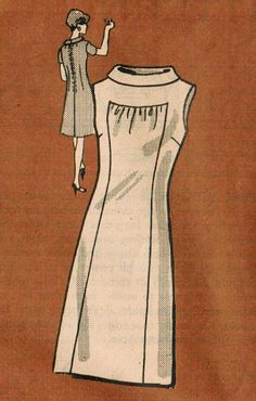1960s Mail Order 4853 UNCUT Vintage Sewing Pattern Misses' Dress Size 12 Bust 32