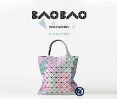 Issey Miyaki Bao Bao - rainbow color    #isseymiyaki #baobao #totebag #rainbow #design #japan #shop #buy