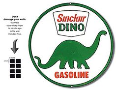 Shop72  Sinclair Dino Tin Signs Retro Vintage Gas Tin sign n Oil Tin Sign Wall Decor Garage  >>> Click on the image for additional details. (This is an affiliate link) #HomeDecorDecorativeAccessories