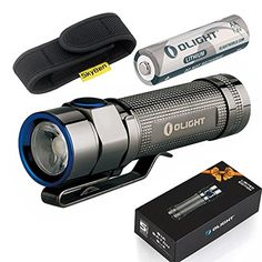Olight S1A Stainless Steel Mini EDC 600 Lumens Cree XML2 LED PMMA TIR Lens Powered by AA OR 14500 Battery Compact LED Black Magnetic Tailcap Flashlight with Skyben Holster ** Be sure to check out this awesome product.(This is an Amazon affiliate link)