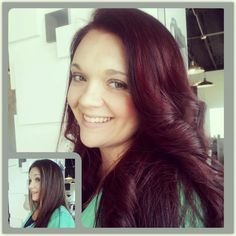 before and after red hair haircolor haircut