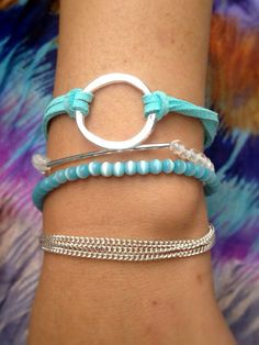 4Layer+Bracelet+with+Silver+Accents+by+littleksshoppe+on+Etsy,+$25.00