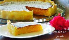 Receitas de pecados no prato: Tarte de coco cremosa facil e economica