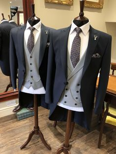 Our Balmoral morning suit is made from lightweight, pure English wool and crafted to a modern design. Wedding Morning Suits, Wedding Suit Hire, Black Suit Wedding, Vintage Wedding Suits, Wedding Men, Blazer Outfits Men, Stylish Mens Outfits, Indian Men Fashion, Mens Fashion Suits