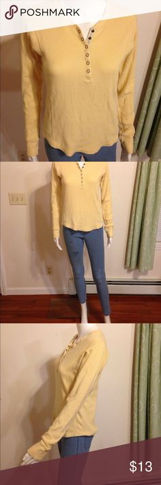 ❤️1 HOUR SALE❤️ Jeans Long sleeve Thick weave designer Tommy Hilfiger Jeans Long Sleeve Yellow Top. Size medium. Stain-free. Clean. Classy, pretty hot cute sexy trendy holiday cocktail dressy prep pair with a cute skirt or pants, knee high boots and if you get cold have a sweater in handy to go over! yellow is a vibrant color that makes you happy and energetic. Also pairs well with any shoes, or outfit of clothing. Be you! Merry Christmas this season. Party on! Tommy Hilfiger Tops Tees…