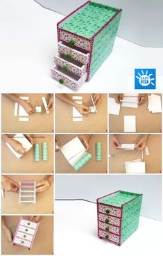 Cardboard Organizer, Cardboard Storage, Cardboard Crafts, Diy Storage, Cardboard Playhouse, Diy Cardboard Furniture, Diy Barbie Furniture, Diy Karton, Desk Organization Diy