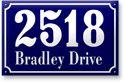 Enameled Address Plaque