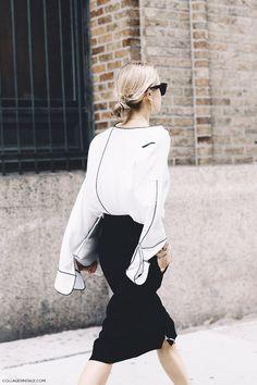 Black, white, blue & a touch of red … a peek at New York Fashion Week street style | photos by sara @ collage vintage, 4,6 stockholm fashion week photos by soren jepsen via vogue ~ debra Dust Jacket on Bloglovin'