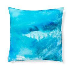 Aviva Stanoff Turquoise Spots Silk & Velvet Pillow