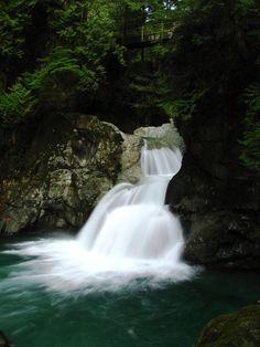 Twin Falls, Lynn Canyon Park, North Vancouver, British Columbia, Canada ✯ ωнιмѕу ѕαη∂у