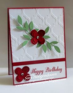 Cherry Cobbler Floral Fusion by shoogendoorn - Cards and Paper Crafts at Splitcoaststampers
