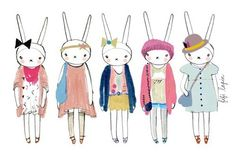 Fifi Lapin is an illustrated fashion socialite bunny