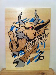 Capricornio cuadro de madera