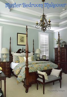 Master Bedroom Makeover by shirleystankus, via Flickr