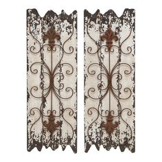 Shop for Wood and Metal Wall Decor Panel (Set of 2). Get free shipping at Overstock.com - Your Online Home Decor Outlet Store! Get 5% in rewards with Club O!