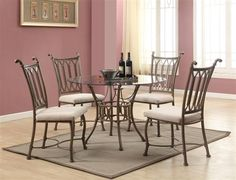 Modern Glass Dining Room Sets  Home Interior Design And Amusing Glass Dining Room Set Inspiration