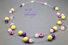 Bergkristall - ♥ No.51 ♥ Kette - Bergkristall, Jade, Achat - ein Designerstück von glashuepfer bei DaWanda