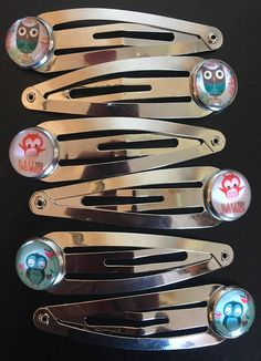 Owl Love You Snap Clip Set Silver Set Owl Hair Pin