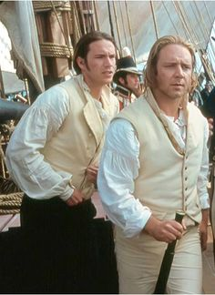 Darcy and Crowe, buttoning up. Royal Navy Uniform, 3 10 To Yuma, Peter Weir, Master And Commander, Navy Uniforms, James D'arcy, Sea Captain, Navy Life, Russell Crowe